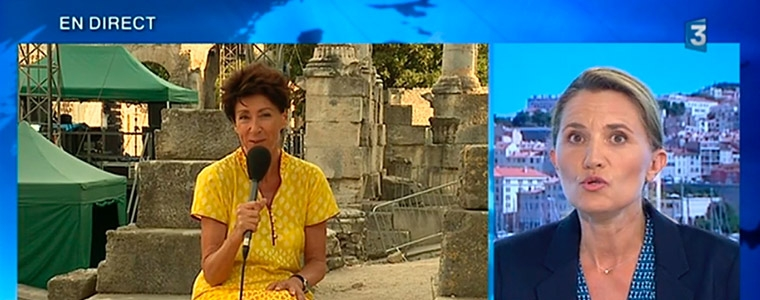 Marie José Justamond en direct du Théâtre antique sur France 3 PACA
